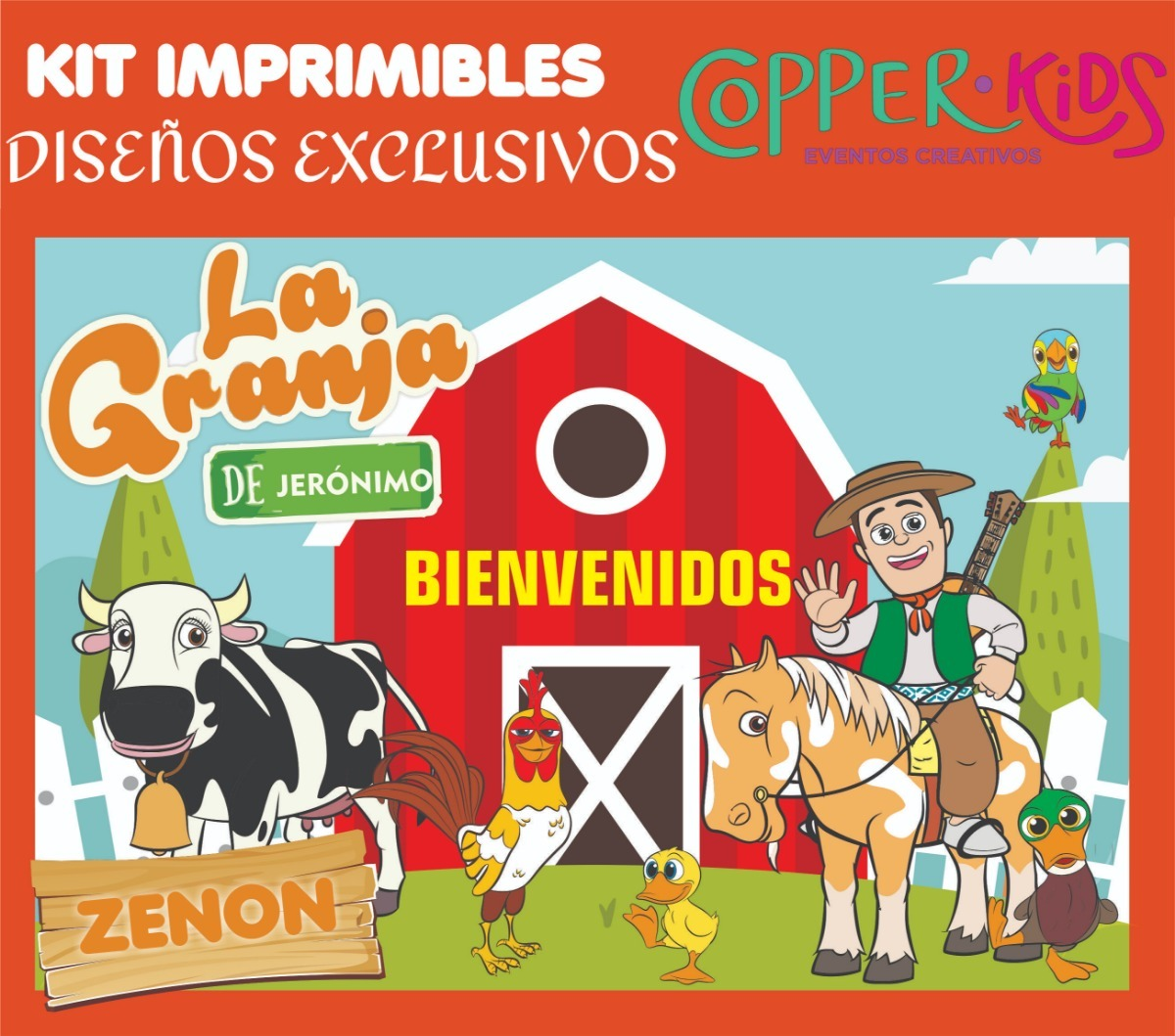 Kit Imprimible Canciones De La Granja Zenon Copperkids