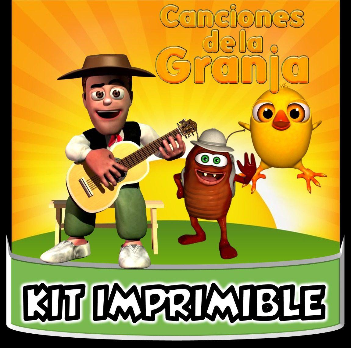 Kit Imprimible Canciones De La Granja Zenon Cotillón Cumple $ 1 990 en Mercado Libre