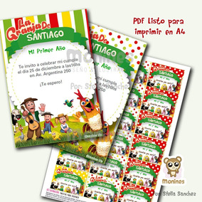 Kit Imprimible Canciones De La Granja Zenón Texto Editable