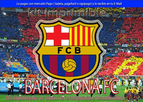 kit imprimible candy bar barcelona fc tarjetas cumple y mas