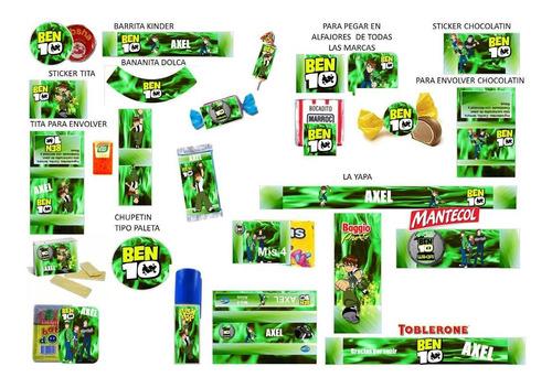 kit imprimible candy bar ben 10! 2x1 imperdible