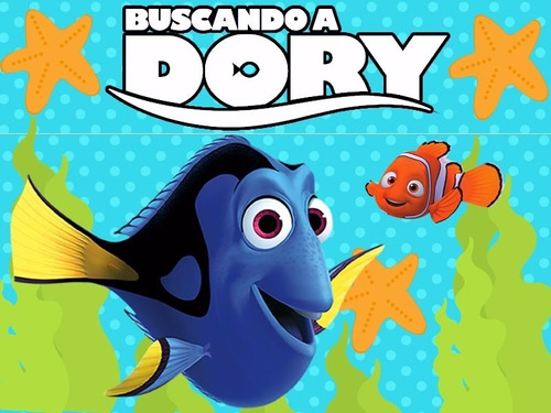 kit imprimible candy bar buscando a dory golosinas y mas 2x1