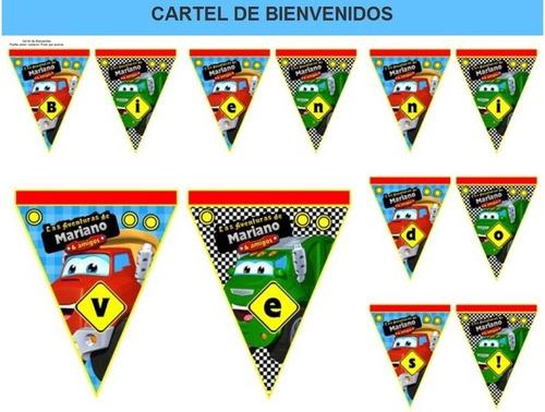 kit imprimible candy bar chuck y sus amigos fiesta 3x1