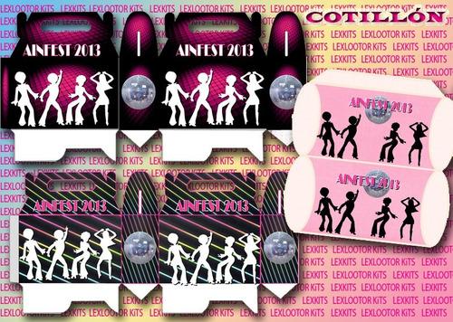 kit imprimible candy bar disco boliche fiesta cumple 15 años