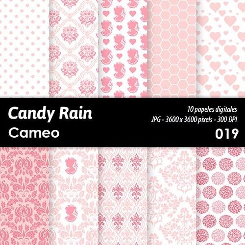 kit imprimible candy bar fondos diseños cameo x 10