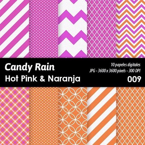 kit imprimible candy bar fondos diseños hot pink x 10