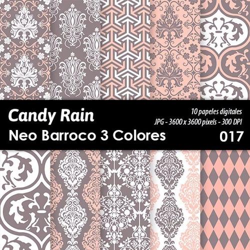 kit imprimible candy bar fondos diseños neo barroco x 10