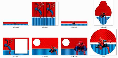 kit imprimible candy bar hombre araña - editable #234