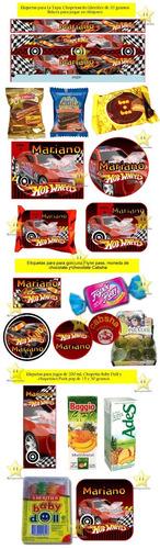 kit imprimible candy bar hot wheels cumples tarjetas y mas
