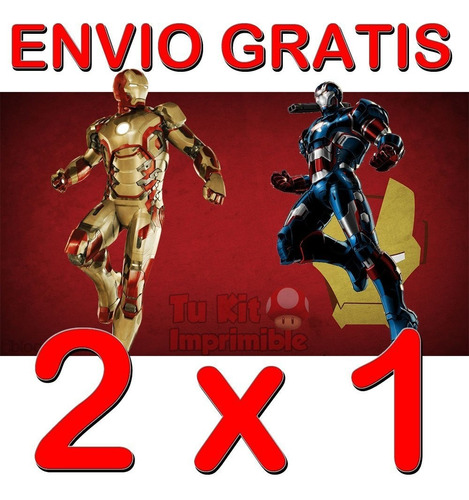 kit imprimible candy bar iron man 3 etiquetas golosinas mas