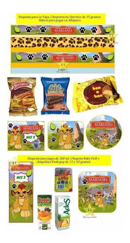 kit imprimible candy bar la guardia del leon golosinas y mas
