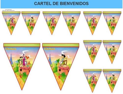 kit imprimible candy bar los picapiedras fiesta 3x1