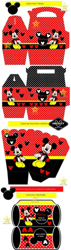 kit imprimible candy bar mickey rojo y negro cumples cod2