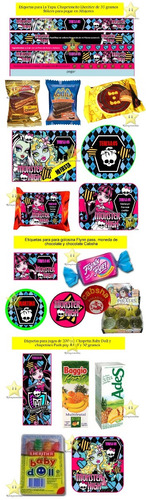 kit imprimible candy bar monster high golosinas cod01