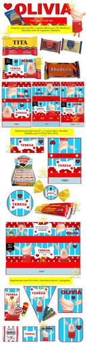 kit imprimible candy bar olivia disney cumples y mas