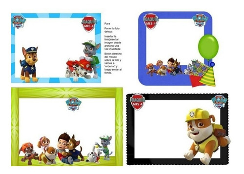 kit imprimible candy bar paw patrol fiesta 3x1