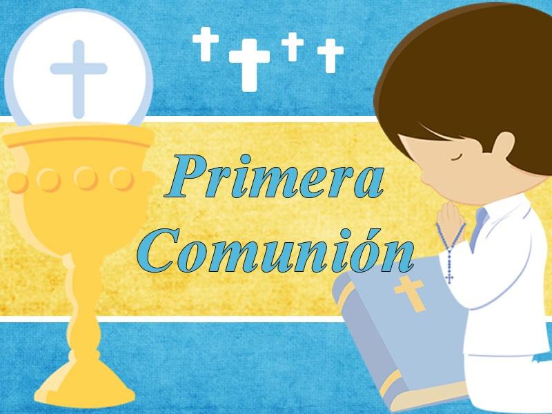 kit imprimible candy bar primera comunion nene azul - $ 54,89 en