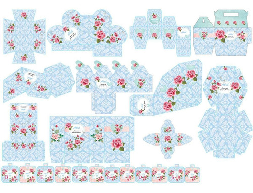 kit imprimible candy bar shabby chic ce!este! muy bueno 2x1!