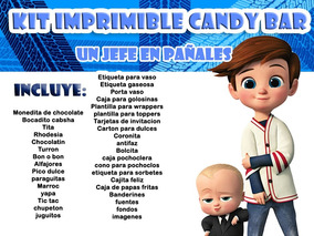 Kit Imprimible Candy Bar Un Jefe En Pañales