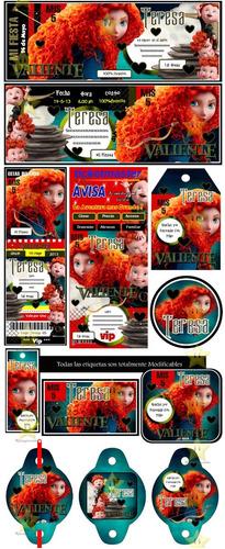 kit imprimible candy bar valiente merida golosinas y mas