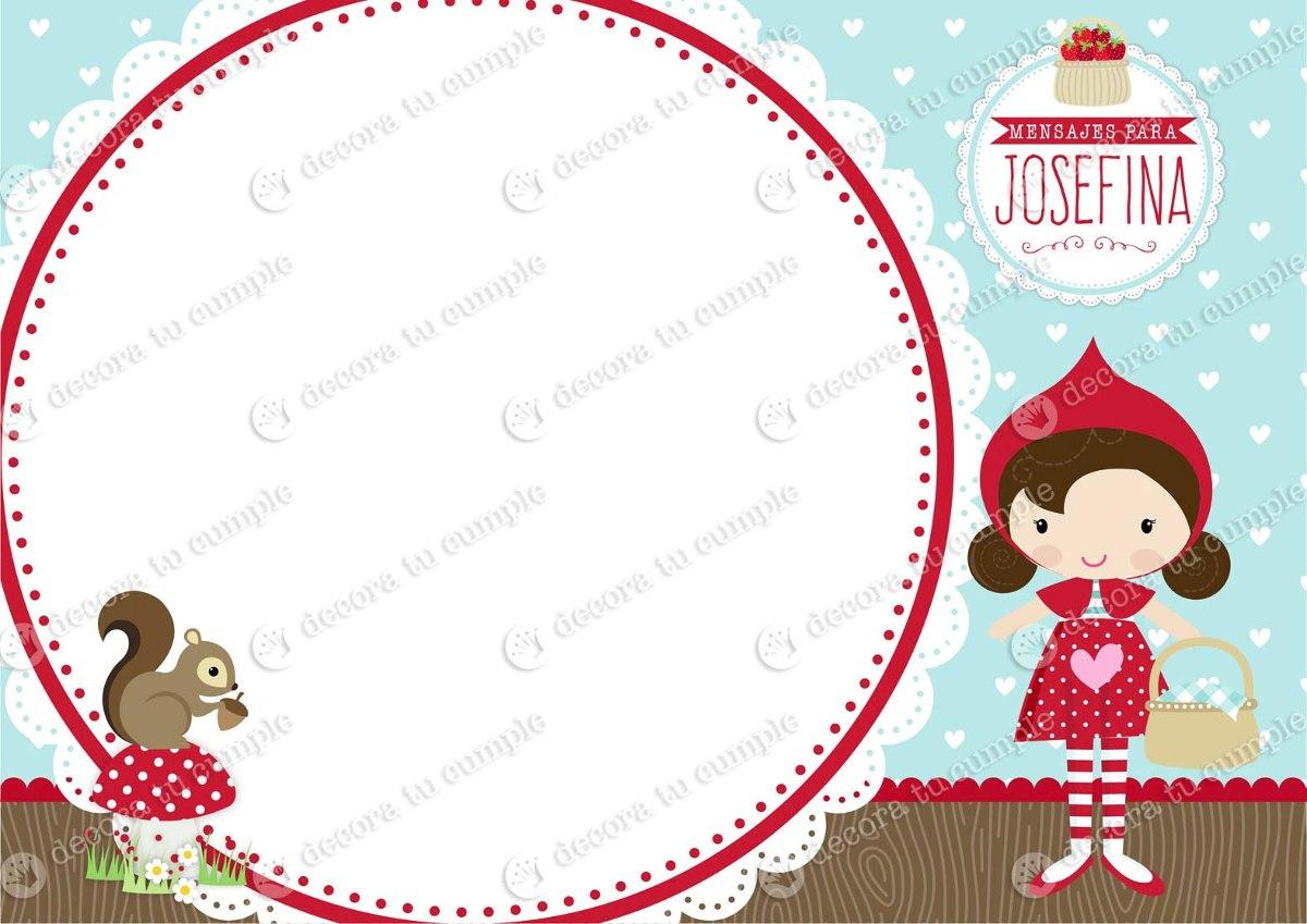Kit Imprimible Caperucita Golosinas Candy Bar Cumpleaños