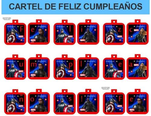 kit imprimible capitan america fiesta 3x1
