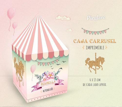 kit imprimible carrusel - calesita nena