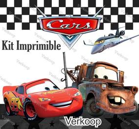 Kit Imprimible Cars Diseña Tarjetas Invitaciones De Cumple