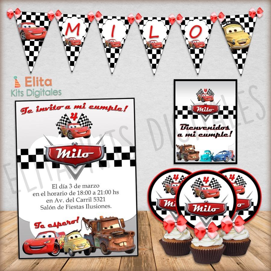 Kit Imprimible Cars Disney Cumpleanos Nena Nene Candybar 350 00