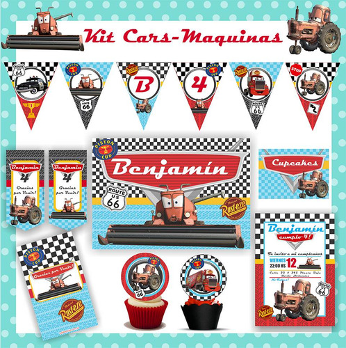 kit imprimible cars maquinas