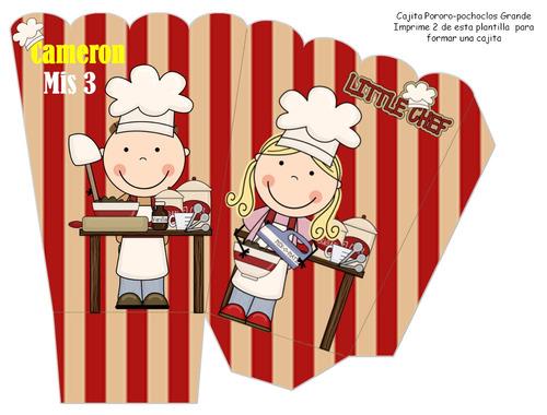 kit imprimible chef invitaciones candy bar tarjetas y mas
