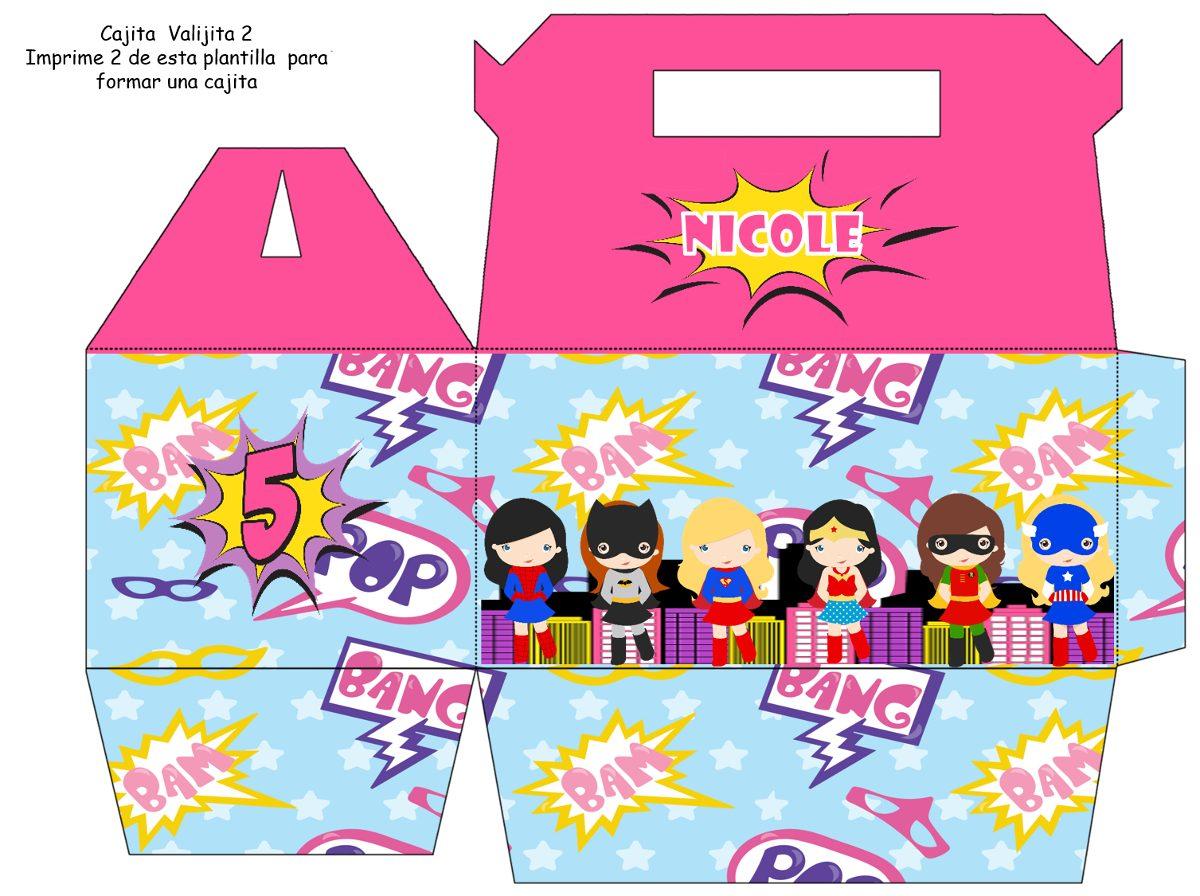 Kit Imprimible Chicas Super Heroes Tarjeta Invitaciones
