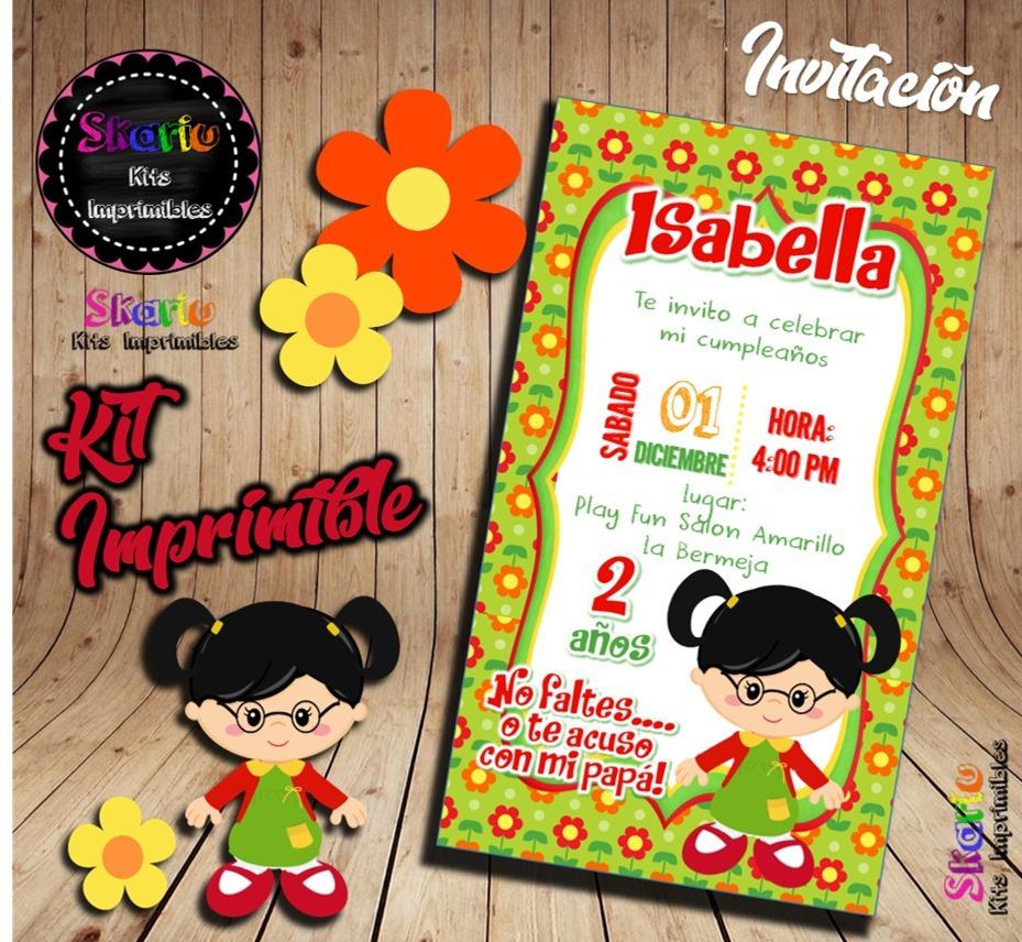 Kit Imprimible Chilindrina Personalizado Pdf
