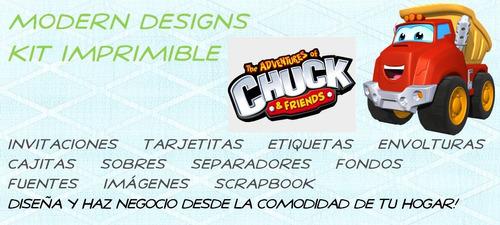 kit imprimible chuck y amigos adornos invitaciones y+