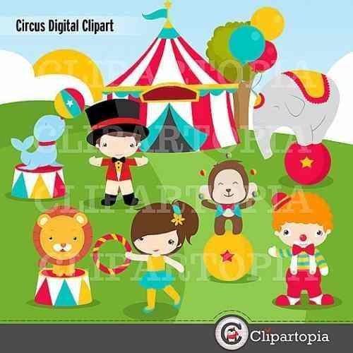 kit imprimible circo payasos imagenes clipart