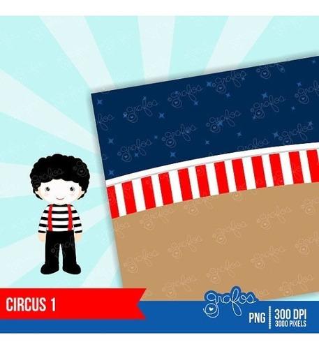 kit imprimible circo payasos imagenes clipart cod809