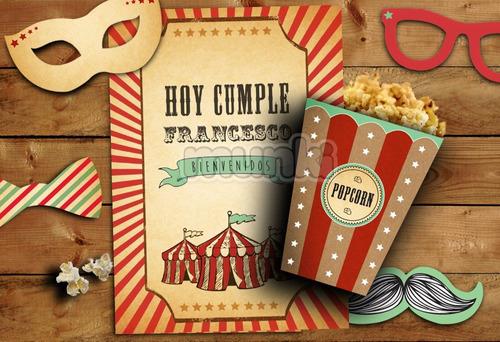 kit imprimible circo vintage niño niña