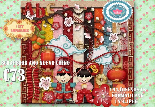 kit imprimible cliparts china elementos flores fondos alfabe