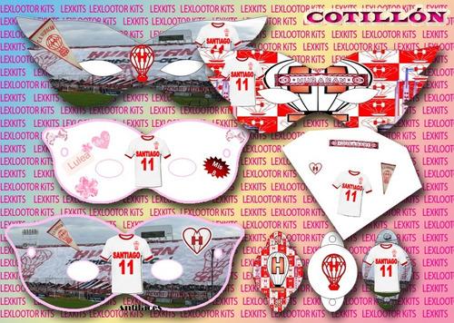 kit imprimible club atletico huracan. cotillón cajas