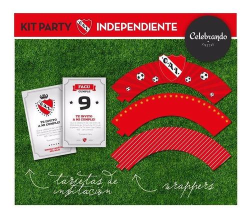 kit imprimible club atlético independiente - 100% diseño