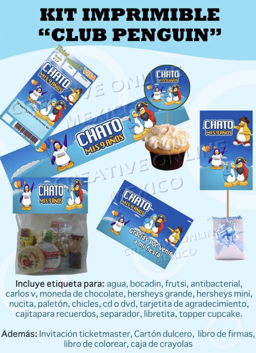 Kit Imprimible Club Penguin + Regalos!! Fiesta Cumple - S/ 9,99 en ...