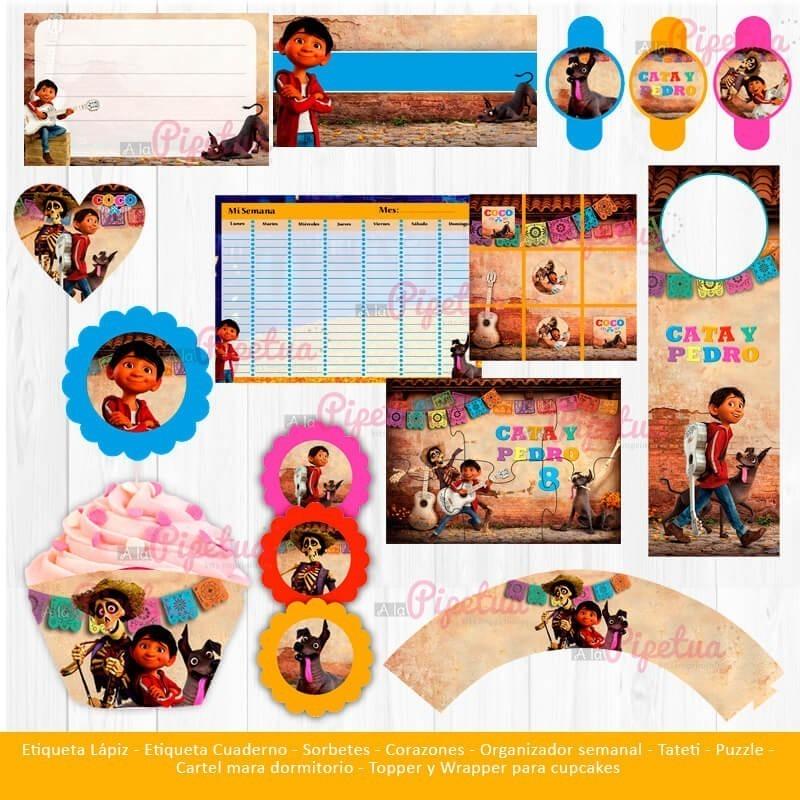 Kit Imprimible Coco Disney Pixar Candy Bar Cotillón Tematico ...