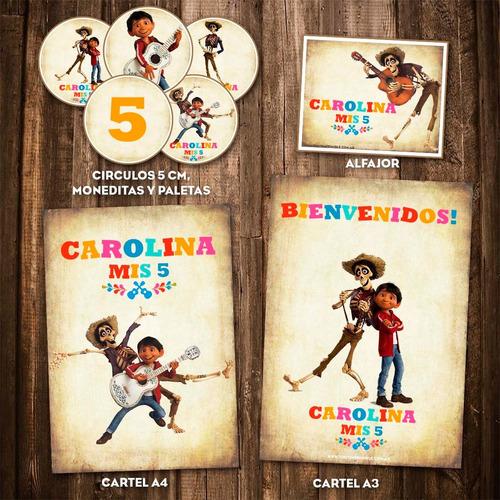 kit imprimible coco disney pixar cumpleaños personalizado