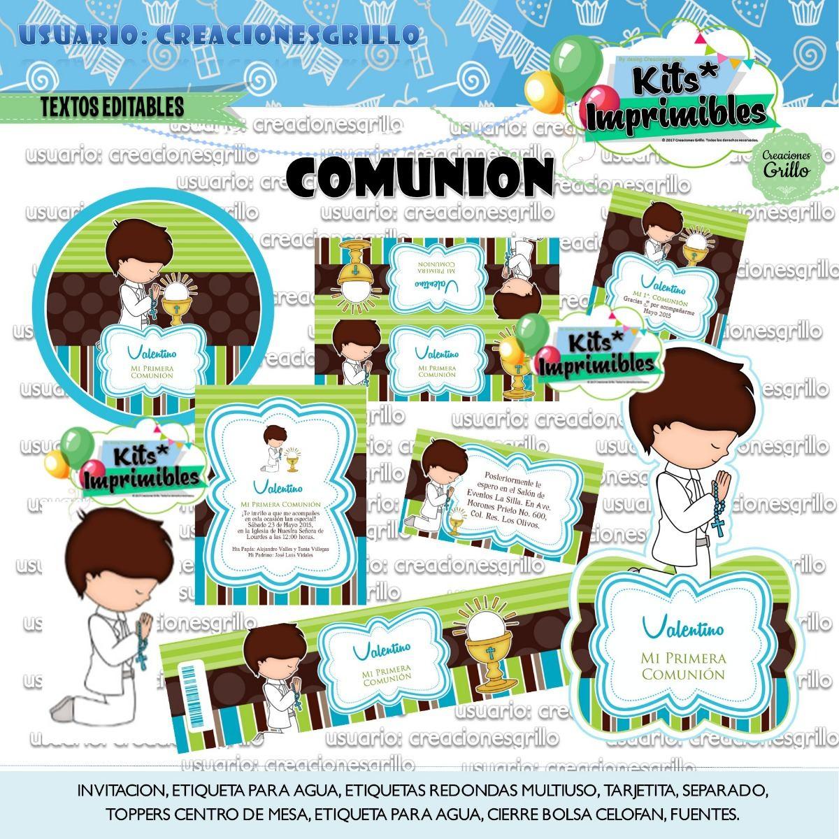 Kit Imprimible Comunion 2x1 - $ 56,00 en Mercado Libre