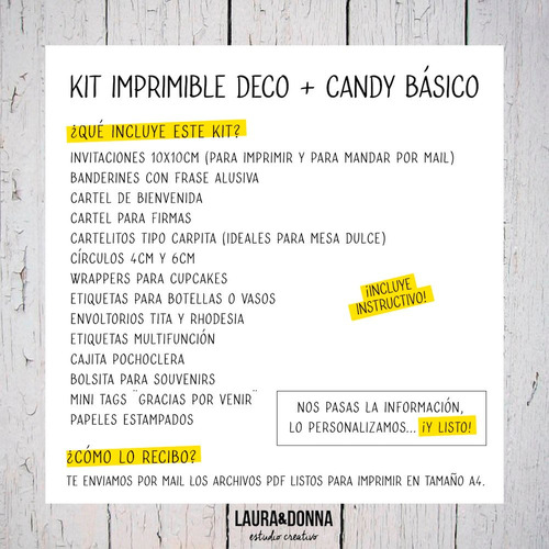 kit imprimible comunión virgencita porfis candy deco nena