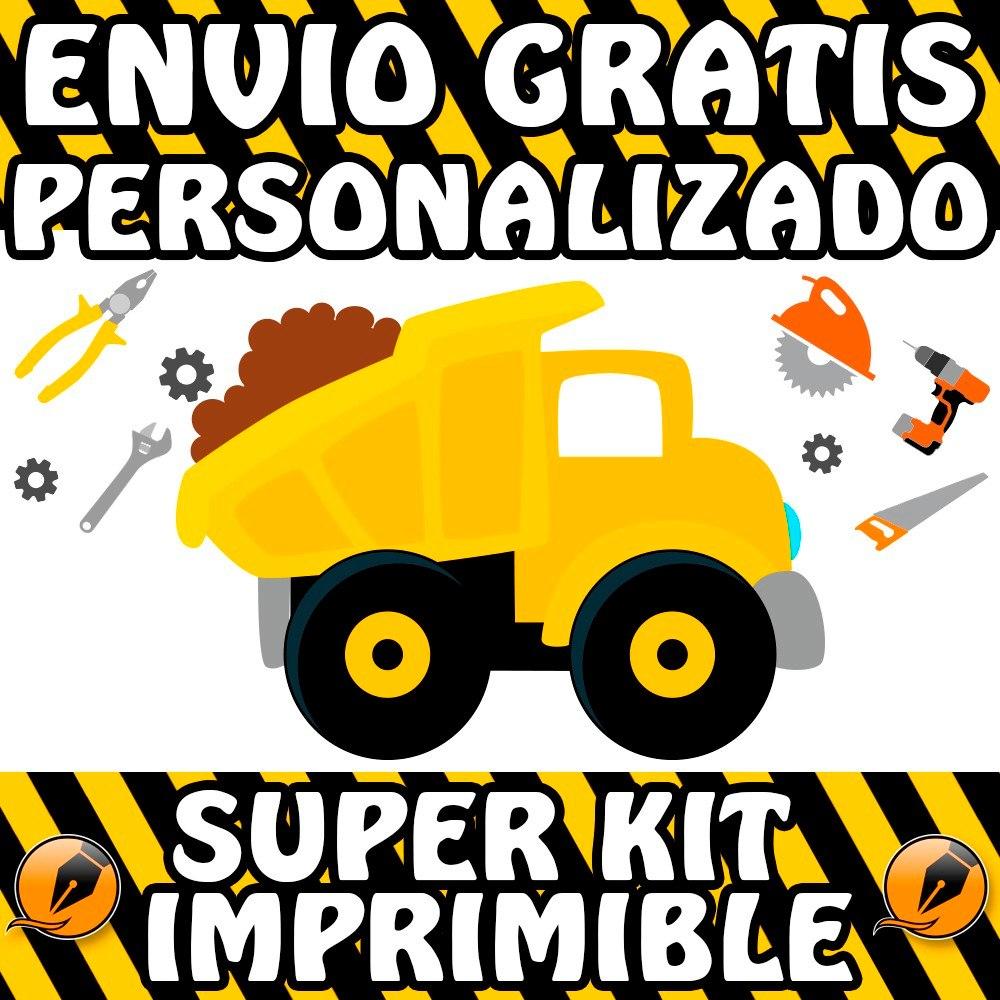 Kit Imprimible Construcción Maquinas & Herramientas Candy - $ 500,00 ...