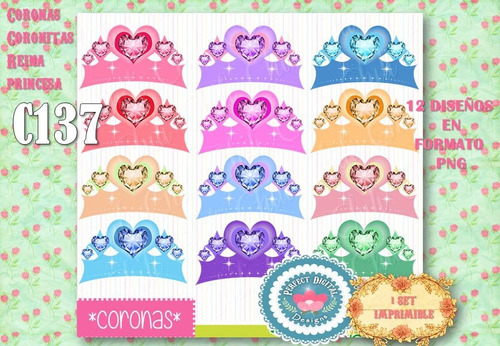 kit imprimible coronas coronitas reina princesas imagenes