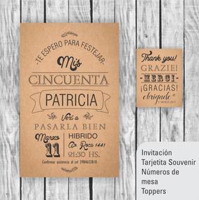 Kit Imprimible Cumple De 50 Años Invitación N Demesa Souveni