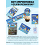 Kit Imprimible Club Penguin + Regalos!! Fiesta Cumple