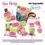 Fiesta Invitación Kit Imprimible Spa Party Niñas